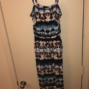 Cynthia Rowley size large maxi dress straps/less